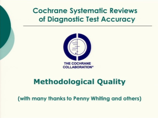 Assessment of methodological quality in DTA reviews