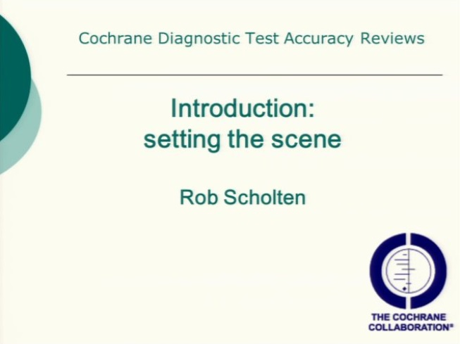 Diagnostic test accuracy (DTA) – a brief introduction