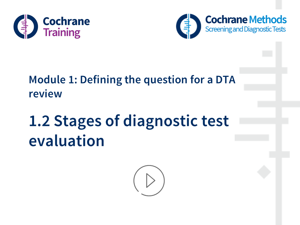 Tests Com Reviews >> Diagnostic Test Accuracy Dta Reviews Cochrane Training